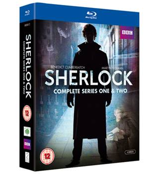 50% OFF SALE SHERLOCK COMPLETE SERIES ONE & TWO Blu Ray 12