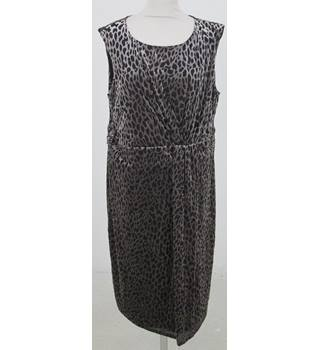 David Emanuel - Size: 22 - Dark & Light Brown Animal  Print Dress