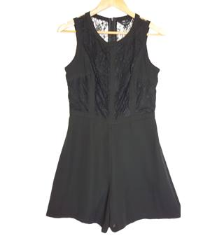 BNWT New Look Size 10 Black Lace Playsuit