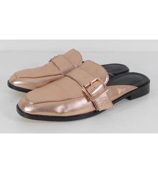 ASOS Size: 7 Rose Gold Backless Loafers