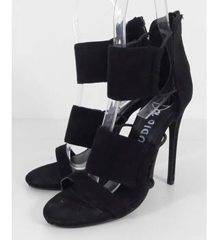 Asos Size 5 Black Faux Suede Stiletto Occasion Shoes
