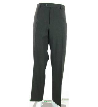 "BNWOT M&S Marks & Spencer - Size: 40"" L - Grey - Wool Mix Trousers"