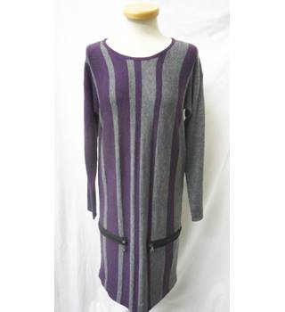 Tara Va - Size: S - Purple and grey - Short dress with Merino wool