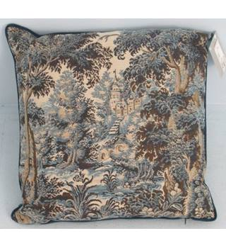 NWOT M&S Home blue tapestry style cushion