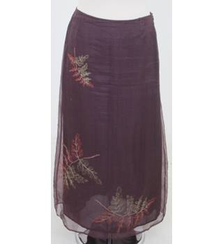 Autograph - Size: 10 - Purple silk full length skirt
