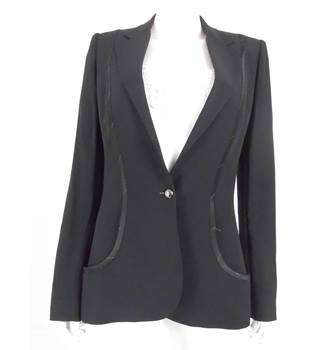 Stella McCartney Size 14 Black Tailored Jacket