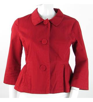 Laura Ashley - Size: 6 S - Red - Jacket