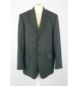 "Taylor & Reece 44""R Graphite Single Breasted Jacket"
