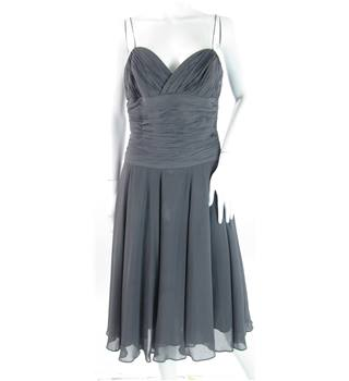 Fenn Wright  Manson - Size: 12 - Grey - 100% silk - knee length dress