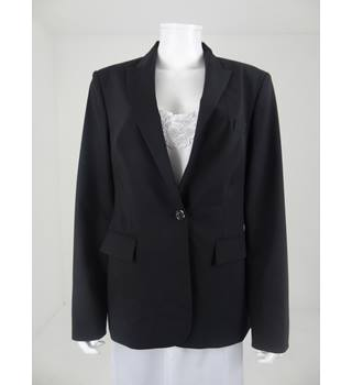 Boss by Hugo Boss Size 16 Virgin Wool Black Suit Jacket