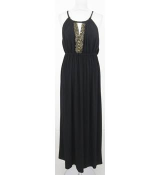 M&S Size: 10 - Black embellished long dress