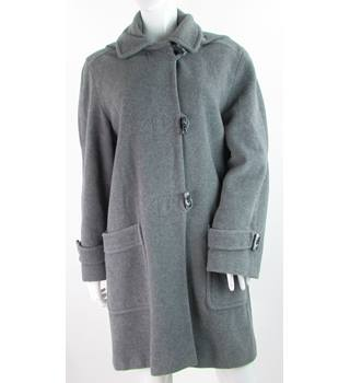 David Barry - Size: 12 - Grey Wool & Cashmere Mix Duffle Coat