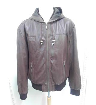 men's helium - Size: XXL - Brown - Leather jacket