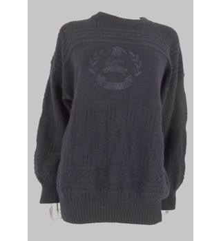 "Burberrys Navy 40"" Chest Pure Wool Jumper"