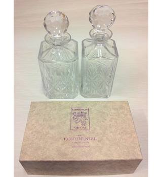 Boxed Set of Two Edinburgh Crystal Continental Collection Decanters