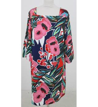 NWOT M&S - Size: 18 - Pink, Red, White, Green Floral Mix Dress
