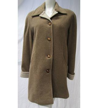 Woolmark Blend Brown Coat Size M Woolmark - Size: M - Brown
