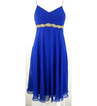 Oli Size 12 Cobalt  Blue Sleeveless Dress
