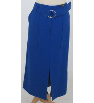 NWOT M&S- Size: 12 - Royal  Blue Mid Length Skirt