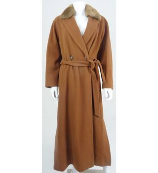 Country Casuals Size 12 Burnt Umber Luxury Wool & Cashmere Blend Full Length Coat