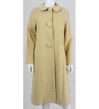 Elspeth Gibson Size 14 Biscuit Luxury Quality 60's Inspired Formal Coat