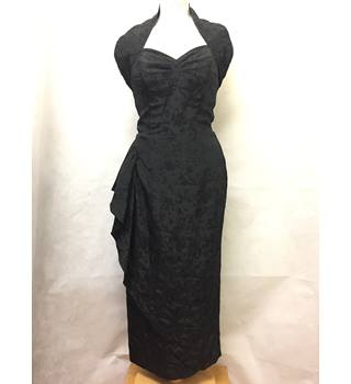 Vivienne Holloway - Size: 12 - Black with Glitzy Embellishments Wiggle Dress