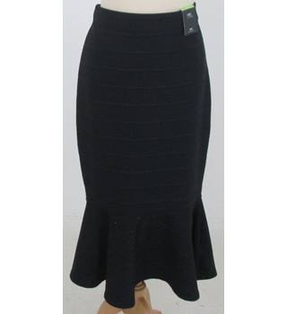NWOT M&S - Size: 12 - Navy Blue Mid length stretch  Skirt