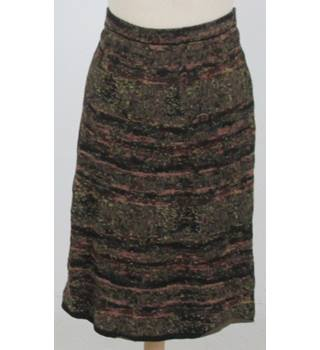 BNWT Peruvian Connection - Size: XL - Mixed Brown tweedy style Cotton Skirt