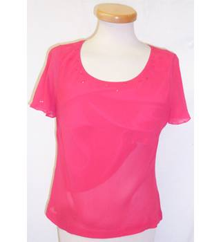 Country Casuals - Size: 12 - Watermelon Pink - Short Sleeved T-Shirt