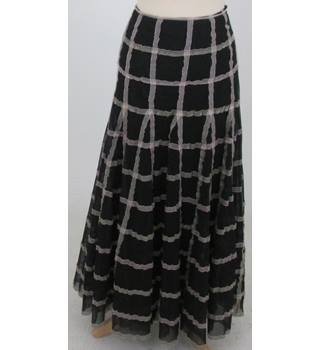 Per Una - Size: 8 - Black with Pink Ribbon Long Skirt