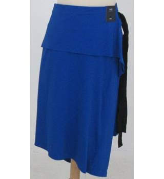 NWOT M&S Collection- Size: 22 - Royal Blue Wrap Mid Length Skirt