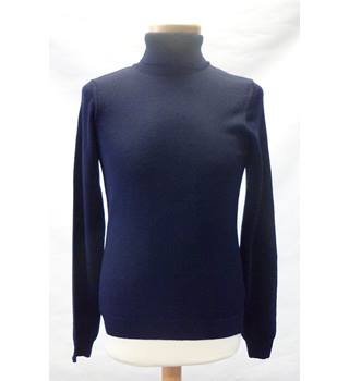 Topman Size: XXS Navy blue Polo neck jumper