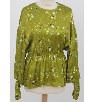 NWOT M&S - Size: 12 -Mustard  Green Astronomical Top