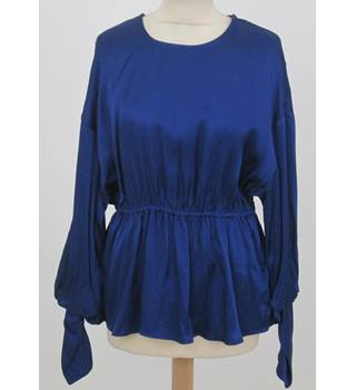 NWOT M&S - Size: 6 -  Navy Blue Long sleeve Top