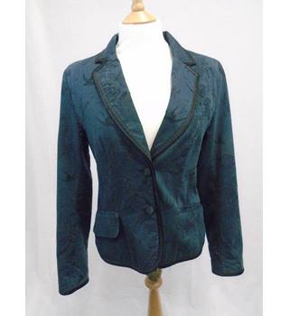 H&M - Size 10 - Blue/ Green Japanese Pattern Jacket