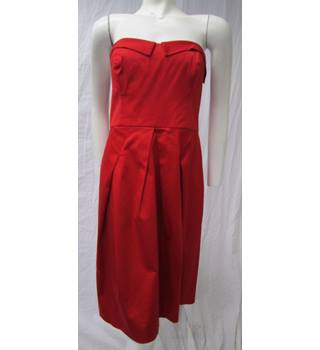 Coast Stunning Strapless Dress Size 14 Coast - Size: 14 - Red