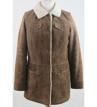 Gap size: M suede brown coat