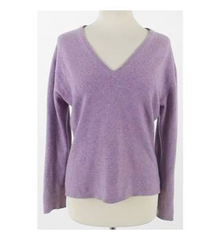Brora,size 12 heather cashmere jumper