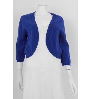 Marilyn Moore LONDON 14 Blue Cashmere Shrug