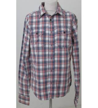 Hollister - Size S - Grey Orange & Cream Checked Long sleeved