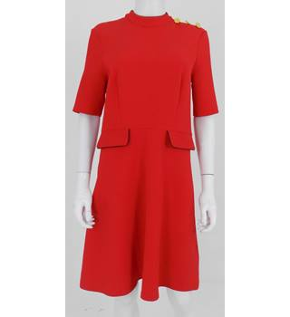 M&S Marks & Spencer Size 12 Red Dress