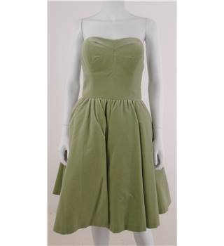 Ted Baker Size 10 Mint Coloured Velvet Strapless Prom Style Dress