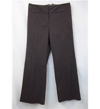 Next size: 12 brown striped trousers