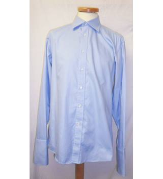 Tom English - Size: 15.5 - Colombia Blue - Long Sleeved Shirt