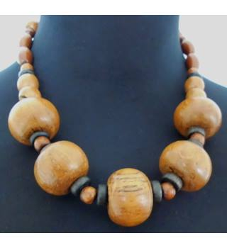 18'' Chunky Wooden Necklace