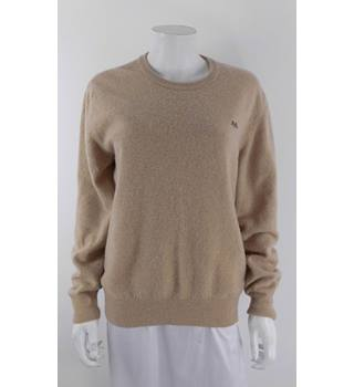 Thomas Burberry L Camel Lambswool Sweater