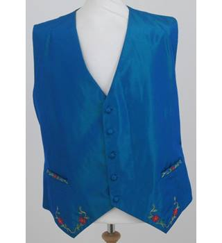 Unbranded - Size XL - Blue with Tree Image Waistcoat