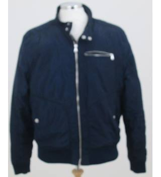 H&M - Size XXL - Blue with chrome zips & buttons Jacket