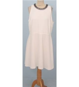 M&S Limited Edition size: 16 white sleeveless dress with beaded collar