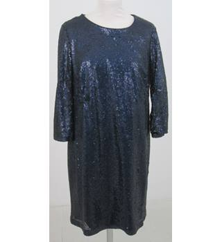 M&S Collection- Size: 14 - Blue Sequinned Dress